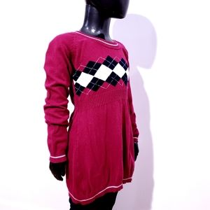 Sweater Dress Pink with Silver detail Girls M NASS